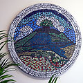 Bartongate, May Hill Mosaic  1 metre diameter